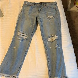 ripped GAP mom jeans